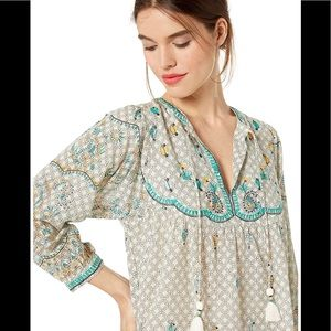 Lucky Brand Evelyn Embroidered Blouse